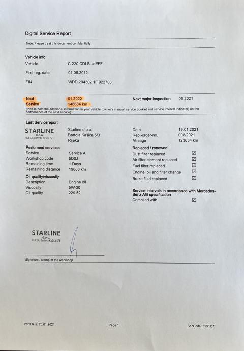 Mercedes-Benz C 220 cdi Coupe Avantgarde 7G ***DEMO VOZILO***